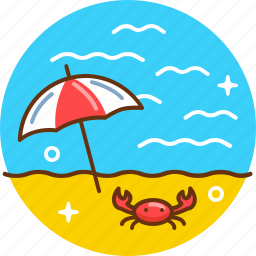 beach, holiday, relax, sea, summer, sun, sunbathe icon