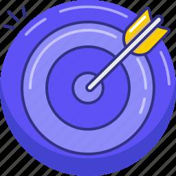 aim, arrow, goal, shoot, target icon