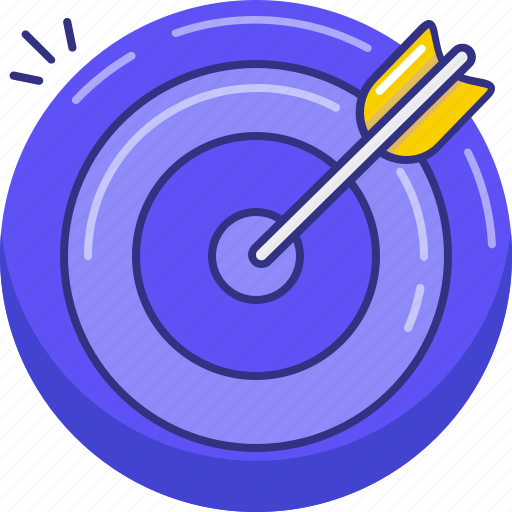 Aim, arrow, goal, shoot, target icon - Download on Iconfinder