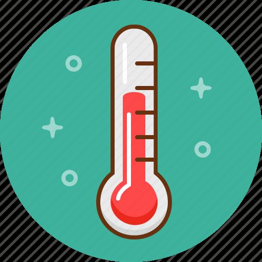 illness, scale, temperature, termometer, winter icon