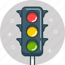 drive, signal, traffic, traffic light icon