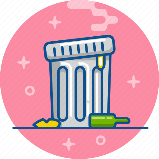 bin, container, rubbish, throw away, trash icon