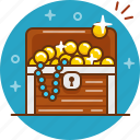 chest, coin, gold, jewelery, treasure icon
