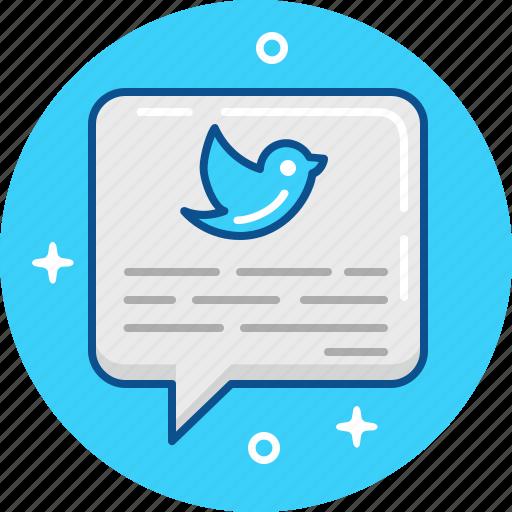blue bird, tweet, twit, twitter icon