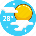 forecast, hot, summer, sun, warm, weather icon