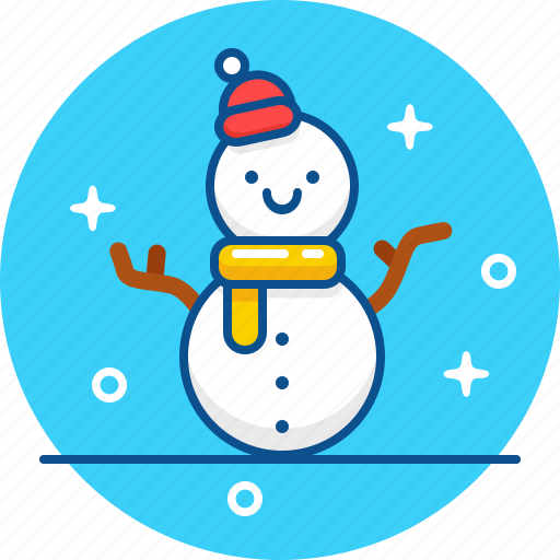 december, february, january, snow, snowman, winter icon