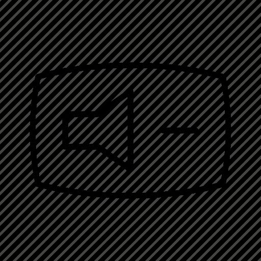 audio, music, quieter, sound, speaker, volume icon