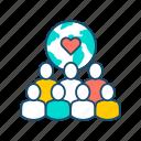 aid, charity, donation, humanitarian, ngo, people, volunteering icon