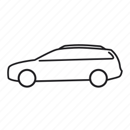 car, road, transport, transportation, vehicle, volvo, volvo v50 icon
