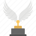 award, trophy, victory, winged trophy icon