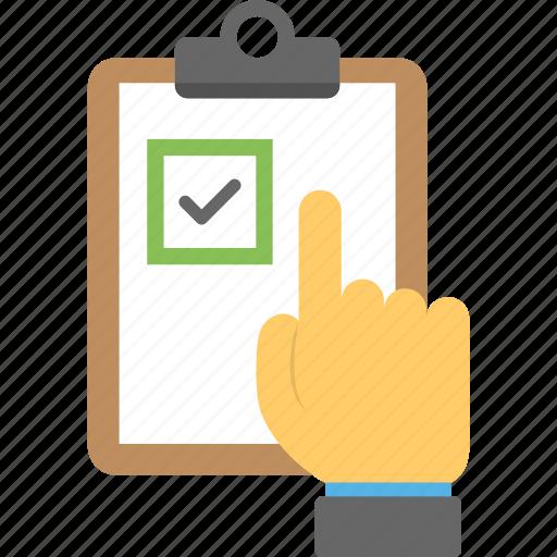 checklist, clipboard checklist, list, selection list, voting list icon