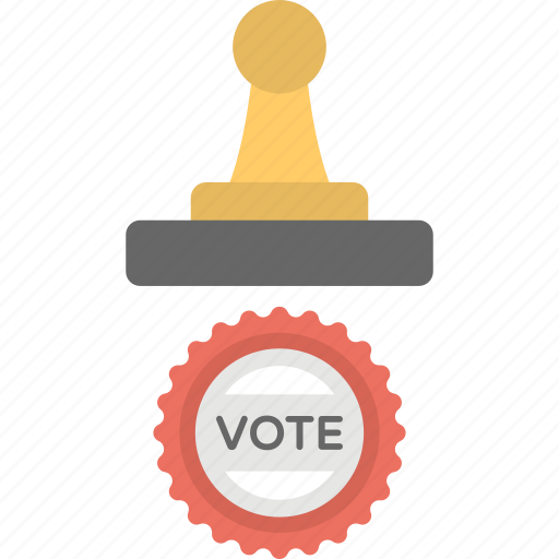 election, polling, vote stamp, vote symbol, voting icon