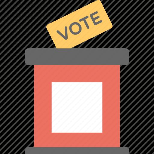 election campaign, vote casting, vote posting, voting, voting box icon