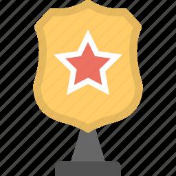 shield award, shield trophy, winner award, winning cup, winning trophy icon
