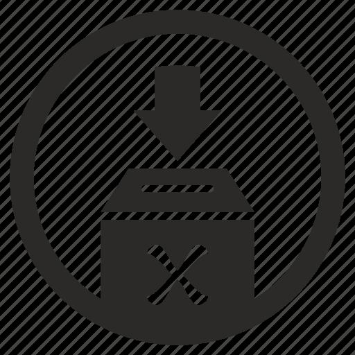 cancel, elections, right, vote icon