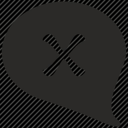 cancel, comment, election, vote icon