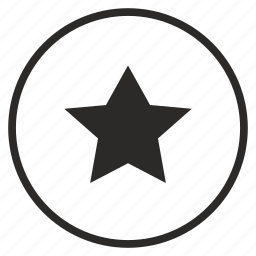 elections, round, sign, star, vote icon