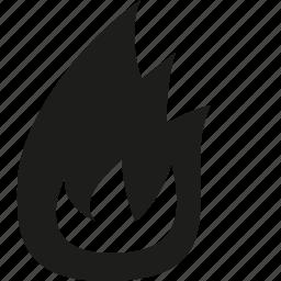 burning, fire icon