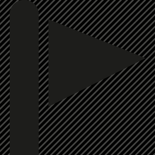 corner, flag icon