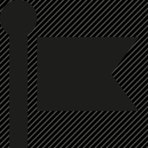 flag, on, pole icon
