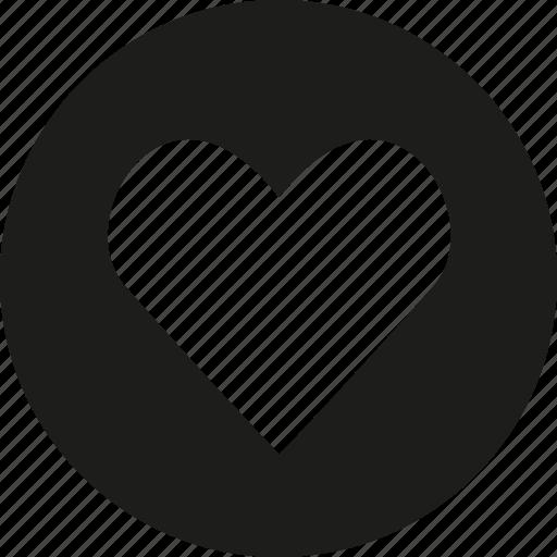 circle, favorite, heart, love icon