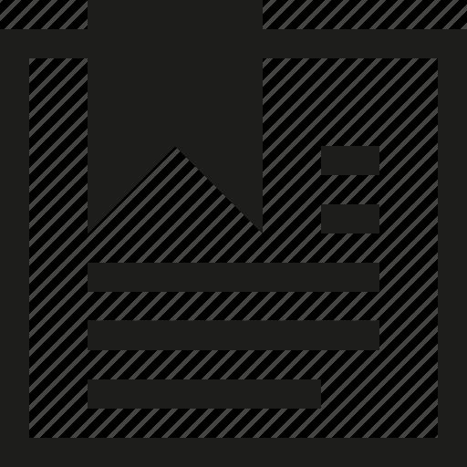 bookmark, paper icon