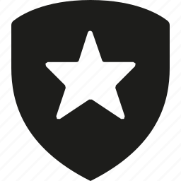 premum, shield, star icon