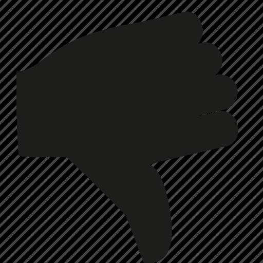dislike, down, no, thumbs, vote icon