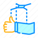political, polls, exit, box, puppet, elections icon
