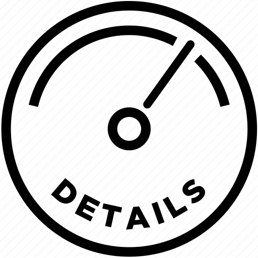 details, outline, pixels icon
