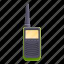 hand, military, talkie, walkie icon