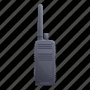 emergency, hand, talkie, technology, walkie icon