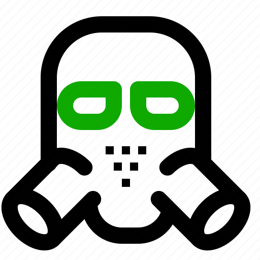 army, gasmask, weapon icon