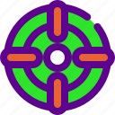 aim, army, weapon, zoom icon