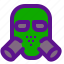 army, gasmask, weapon icon