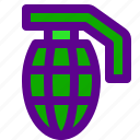 army, grenade, weapon icon