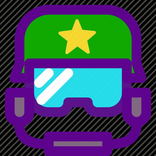army, pilot, weapon icon