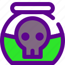 army, poison, weapon icon
