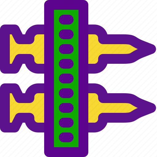 army, rockets, weapon icon