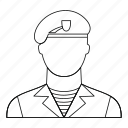armed, army, engraving, line, military, outline, sniper