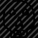 cranium, danger, dead, halloween cranium, skull icon