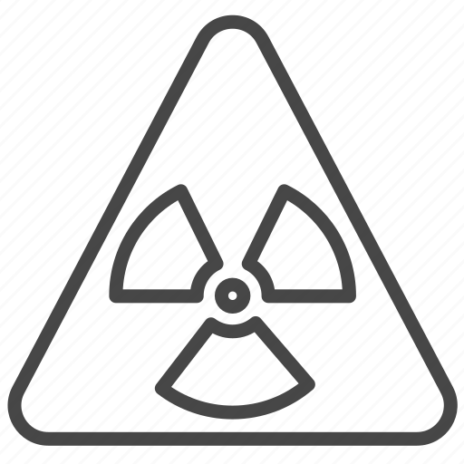 caution, danger, notice, radioactive, sign, warning icon