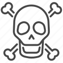 danger, hazard, poison, sign, skull, toxic, warning icon