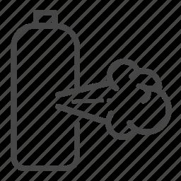 danger, gas, hazard, leak, sign, warning icon