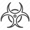 biohazard, danger, hazard, hazardous, sign, warning icon