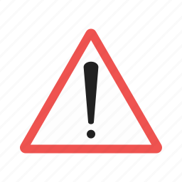 alert, danger, exclamation, red, secure, sign, warning icon