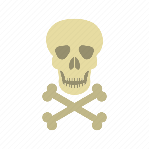 crossbones, danger, death, poison, sign, skull, warning icon