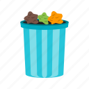 bin, can, container, garbage, recycling, trash, warning icon