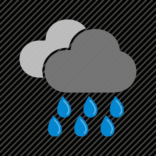 heavy, monsoon, rain, rainfall, storm, warning icon