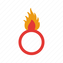 caution, danger, fire, flame, safety, sign, warning icon